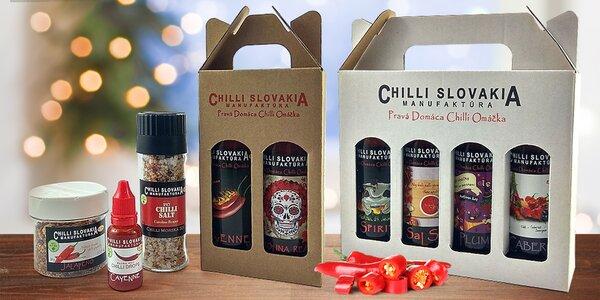 100% přírodní raw chilli omáčky, kapky i koření
