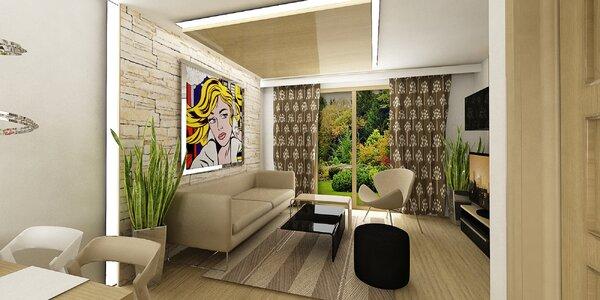 3D návrh či redesign interiéru vč. nákupního seznamu