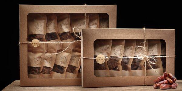 Dárkové krabice datlových bonbónů: kokos i rybíz