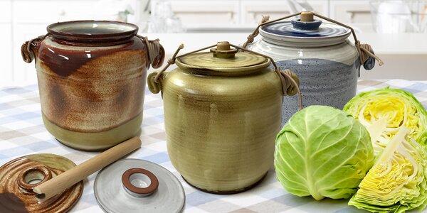 Kvašák: keramický hrnec ke kvašení zelí a zeleniny