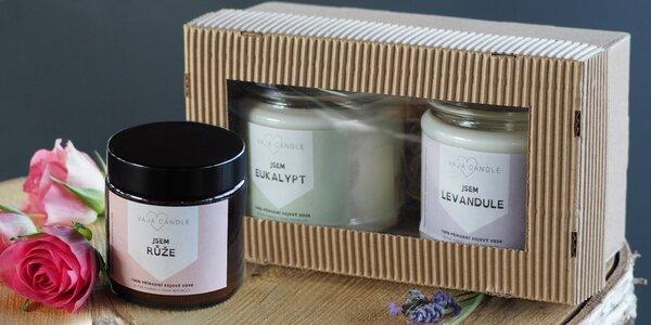 Ručně vyráběné sójové svíčky: levandule i citron