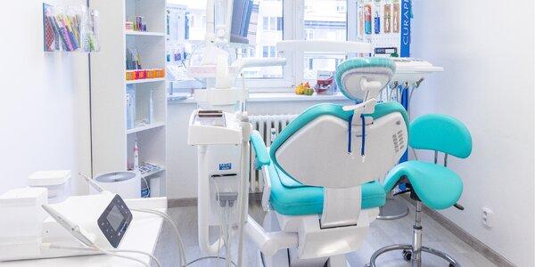 Dentální hygiena i balíček pomůcek na čištění zubů