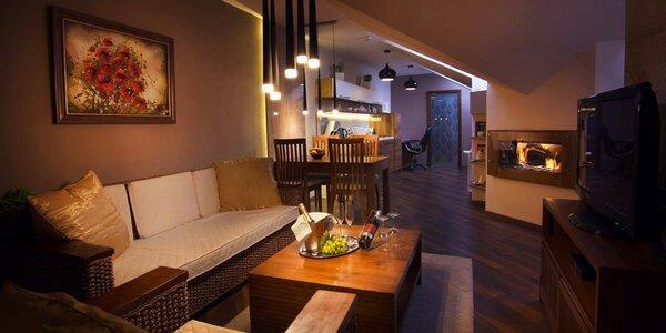 Luxusní apartmány se soukromou vířivkou a saunou