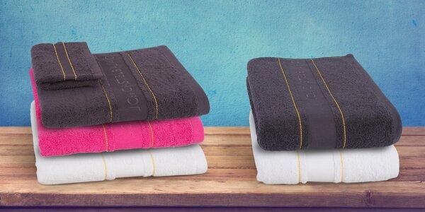 Set ručníku a žínky od slavného návrháře: 3 barvy