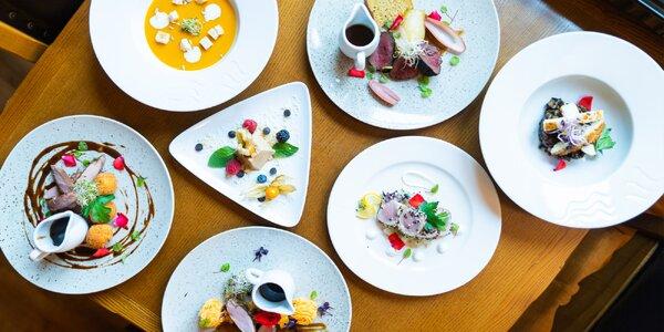 7chodové degustační menu i privátní wellness