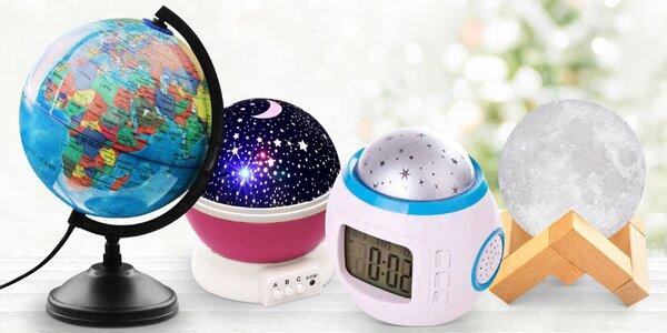 Projektor hvězdné oblohy, budík či noční lampa