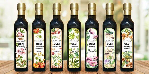 Za studena lisované oleje: makové i konopné