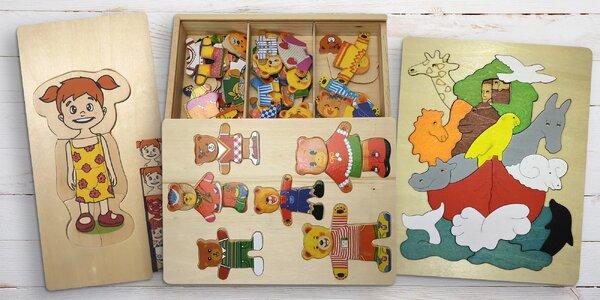 Dětské dřevěné vícevrstvé puzzle pro rozvoj motoriky a nekonečnou zábavu