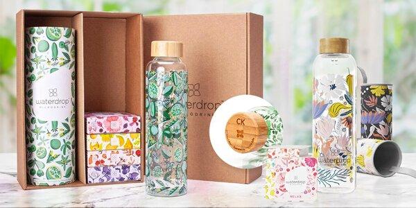 18 mikrodrinků Waterdrop a skleněná či nerez lahev