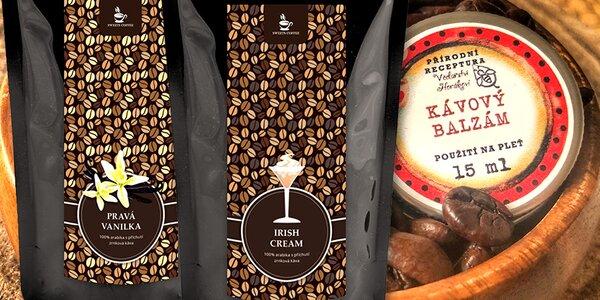 Dárkový set 2 ochucených káv s kávovým balzámem