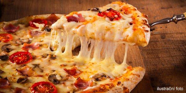 1 nebo 2 pizzy s italskými surovinami a nápoj