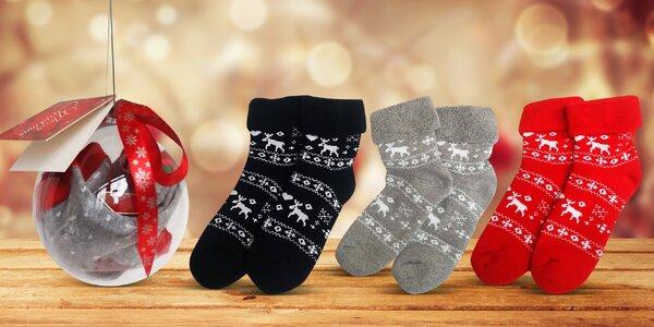 Termo ponožky v dárkové vánoční kouli
