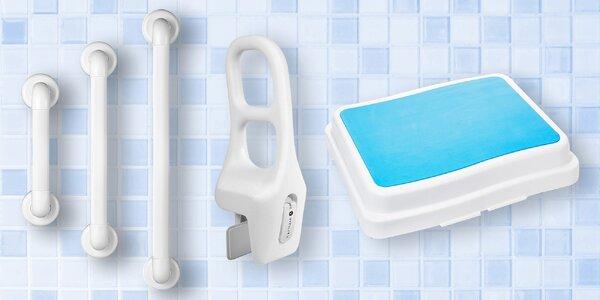 Protiskluzové podložky, madla či sedátka do vany