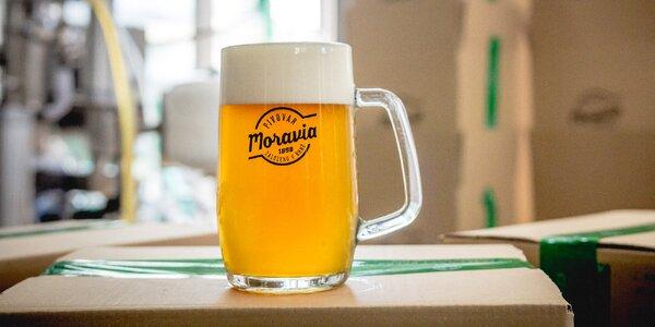 Prohlídka pivovaru Moravia a 12 lahví piva na doma