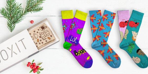 Designové ponožky a sety Soxit v dárkovém balení