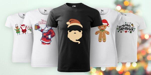 Dámská a pánská trička s vánočními motivy