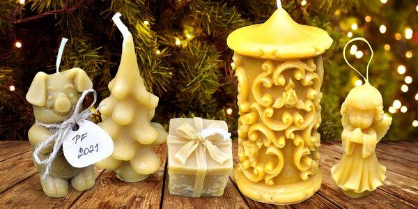 Voňavé svíčky, ozdoby a betlém ze včelího vosku