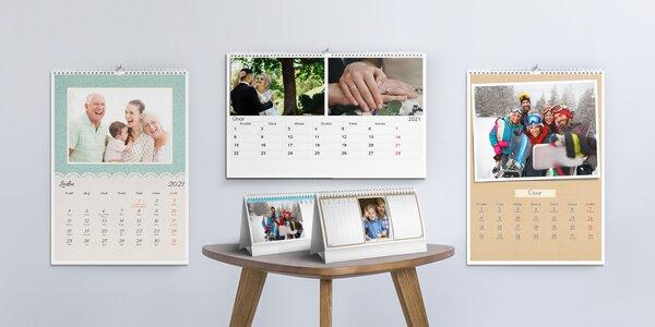 Kalendáře z vlastních fotografií: nástěnné i stolní