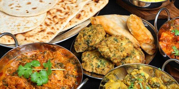 Indické speciality v restauraci Taj vhodnotě 500 Kč