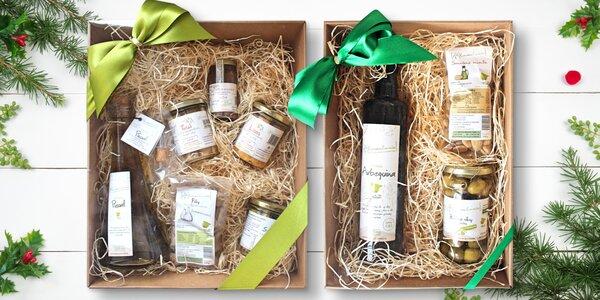 Dárková balení exkluzivních pochoutek z oliv