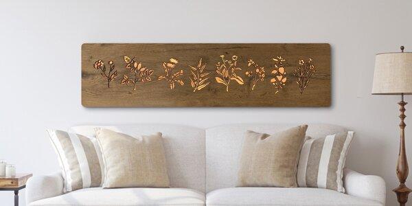 Dekorační svítidla s dřevěným dekorem