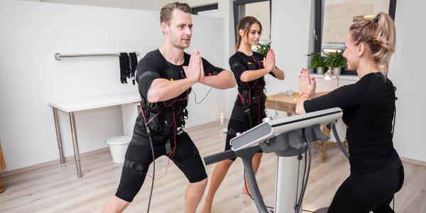 Cvičení na přístroji Body Fit Miha s instruktorem