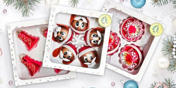 Ručně v Česku vyráběné ozdoby na vánoční stromeček