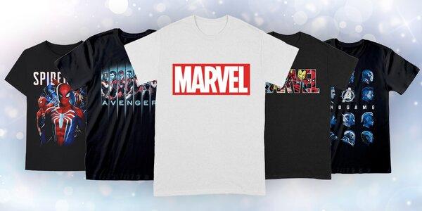 Pánská bavlněná trička s potiskem Marvel a DC comics