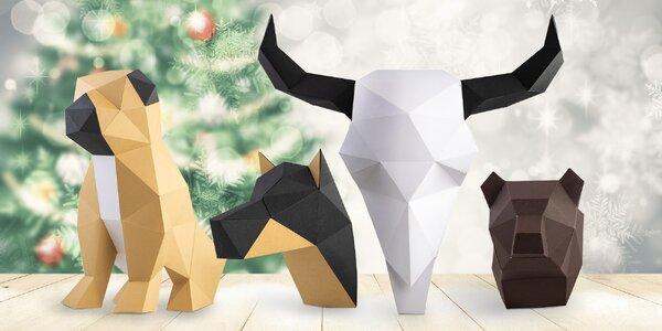Papírové dekorace: složte si zvíře na stůl či stěnu
