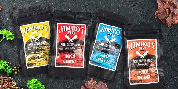 Výtečné Jamiro's Jerky bez éček. Hovězí i krůtí