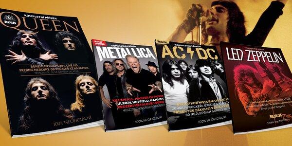 Knihy Queen, Metallica, Led Zeppelin a AC/DC