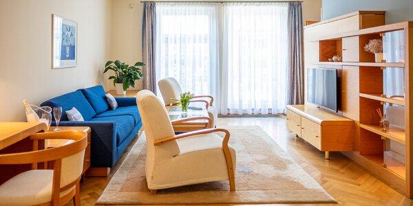 Luhačovice: apartmán se snídaní, masáží i wellness