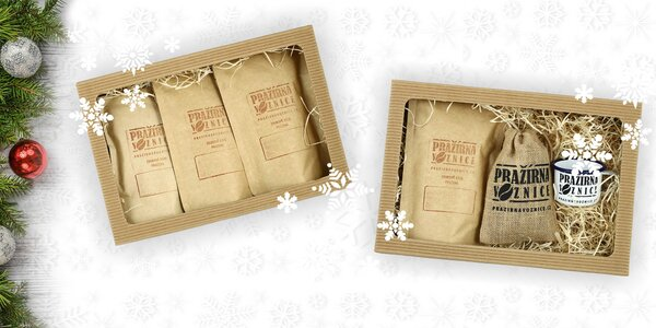 Dárkové balení káv z rodinné Pražírny Voznice
