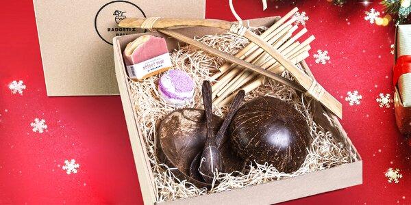 Vánoční balíčky z Bali: kokosové misky, lžičky i brčka