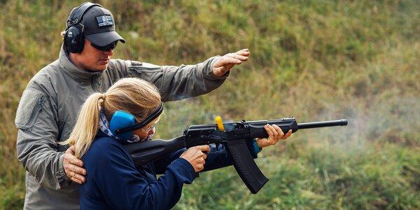 3hodinový zážitek na střelnici: až 13 zbraní