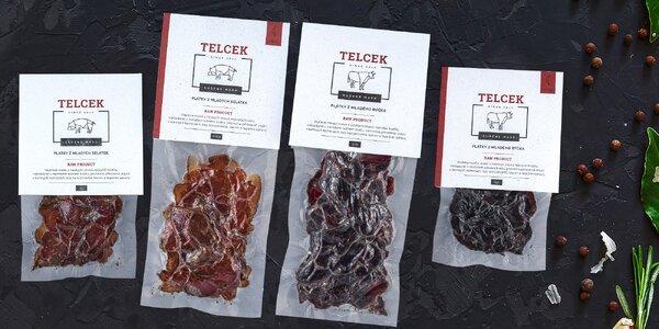 Poctivé sušené maso české výroby: vepřové i hovězí