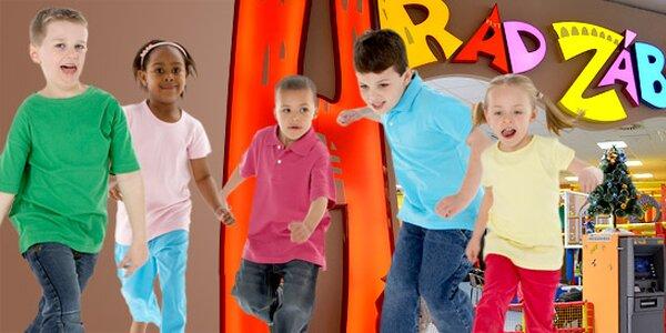 Vstup a 5 žetonů do Hradu zábavy pro děti!