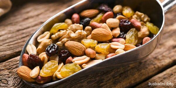 Ořechové a ovocné směsi: 6 druhů po 500 g
