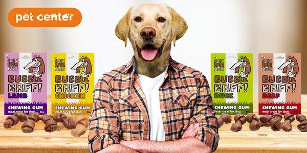 4× masové žvýkačky Huhubamboo pro psy