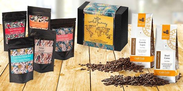 Zrnková káva z celého světa: 250 g i degustační set