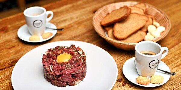 Pro milovníky masa: 300 g hovězího tataráku