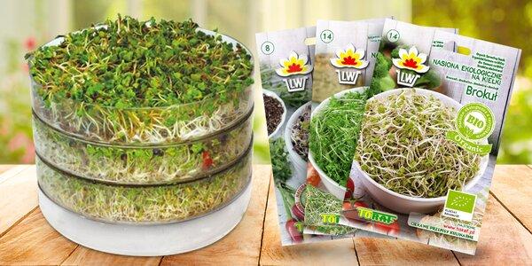 Třípatrová biomiska na klíčení a 40 druhů semen