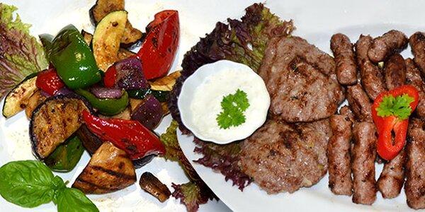 Balkánský talíř pro 2 osoby s přílohami dle výběru