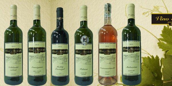 6 vín z moravského rodinného vinařství Skrášek