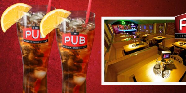 Půllitrové drinky Long Island Ice Tea + sklenice