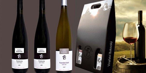 Libovolná vína Vinařství Bukovský v dárkové sadě