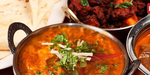 Libovolné speciality indické kuchyně v oblíbené restauraci