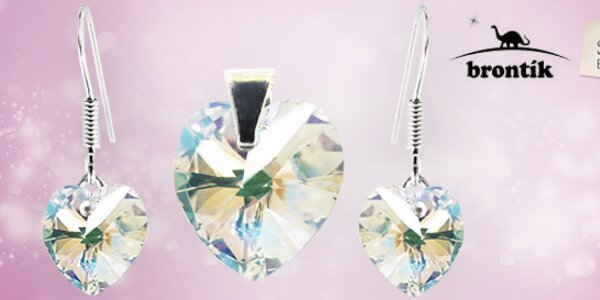 Souprava stříbrných šperků s kamínky Swarovski