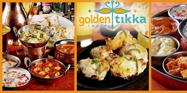 Cokoli z bohatého menu tradiční indické restaurace
