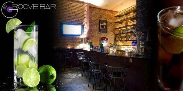 90 Kč za dva vybrané drinky v Groove baru. Sleva 55 %!